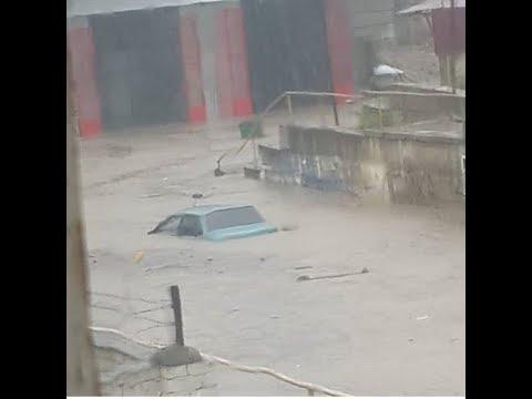 Мощный ливневой паводок в Буйнакске, Дагестан