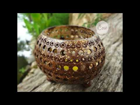 DIY BEAUTIFUL COCONUT  SHELL CRAFT IDEAS