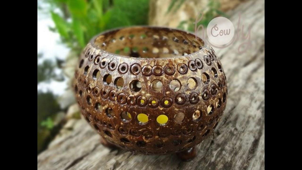 Diy Beautiful Coconut Shell Craft Ideas Youtube