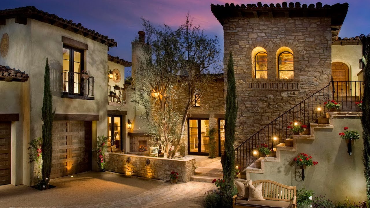 Charming Italian Style Home Inspired By A Tuscan Farm House Village Mediterranean Architecture Youtube