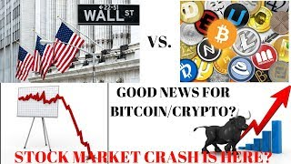 STOCK MARKET CRASH IS HERE? GOOD NEWS FOR CRYPTO!?! NEW YORK Stated Backed Crypto?