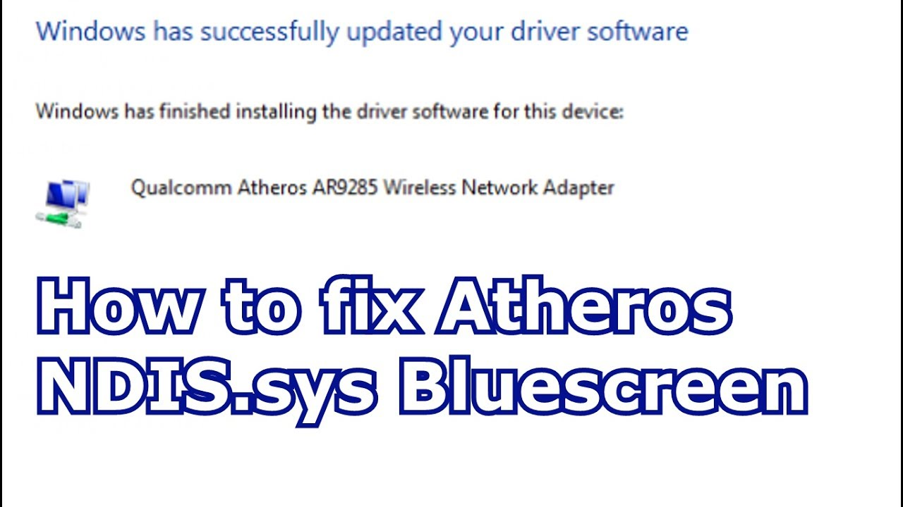 Driver Irql Not Less Or Equal Windows 10 Ndis Sys
