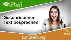 Empfehlung Geschriebenen Text besprechen - Zentralmatura Deutsch Mai 2018 #11