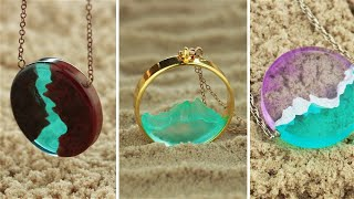 Mountains 10 CHEAP AND EASY DIY JEWELRY IDEAS FAIRY PENDANTS MADE OUT OF AN EPOXY RESIN