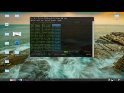 Reproducir musica en la terminal de Linux 2017 MocCrackMinimal-Terminal