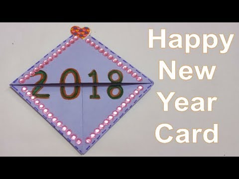 how to make happy new year greeting card 2018 tukkutv