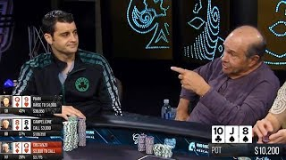 Old Man Is STEAMING MAD - Crazy $25/$50 Poker Game