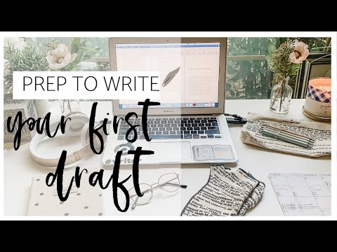 how-i-prep-to-write-a-first-draft-📝-day-in-the-life-vlog