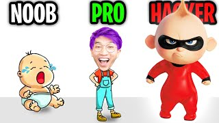 Can We Go NOOB vs PRO vs HACKER In BRAIN OUT!? (IMPOSSIBLE PUZZLES!!)
