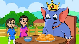 Hathi Raja Kahan Chale Nursery Rhyme | हाथी राजा कहाँ चले | FunForKidsTV - Hindi