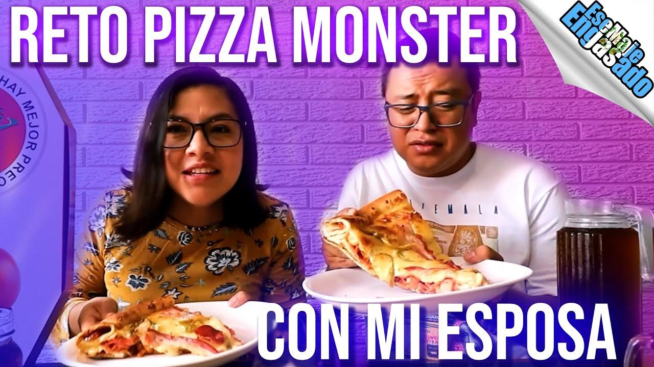 Reto Pizza Monster con mi esposa   ft. EsaDeby