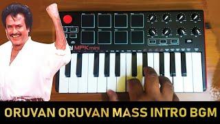 Oruvan Oruvan Mass Intro Bgm | Cover By Raj Bharath | Muthu | #Rajinikanth
