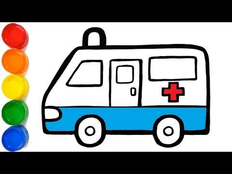 como desenhar ambulância de bombeiro how to draw fireman ambulance ...