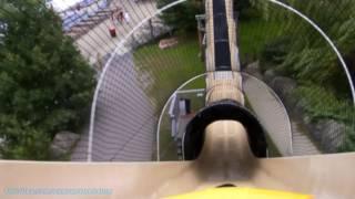 Black Anaconda Water Coaster (HD POV) Noahs Ark Waterpark