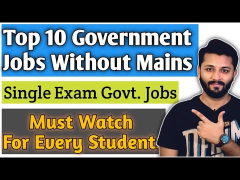Top 10 Single Exam Government Jobs List By Knower Nikhil |  NO Mains Government Jobs | Must Watch