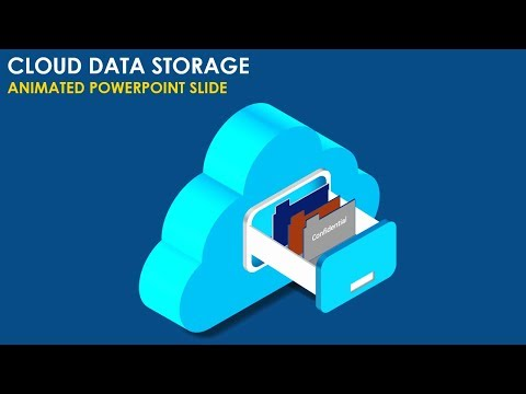 Cloud Data Storage Infographic Slide In PowerPoint/Animated PowerPoint Slide/Cloud Computing Slide