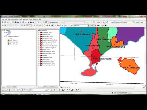 How to drawing polygon and make database (atribute table) in ArcGIS // part 2