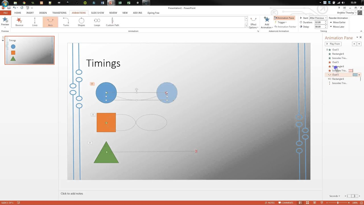 PowerPoint - Animations Advanced Timeline