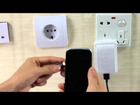 "CARD CP2 USB 1A 環保新設計行動電源自帶插腳 5000mAh / 充電器 顏色""白色"""