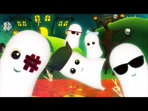 five little ghosts  scary rhymes  nursery rhymes  halloween song