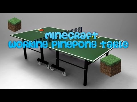 how to make a working ping pong table in minecraft - youtube