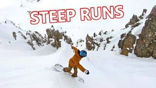How To Turn On Steep Runs Snowboarding