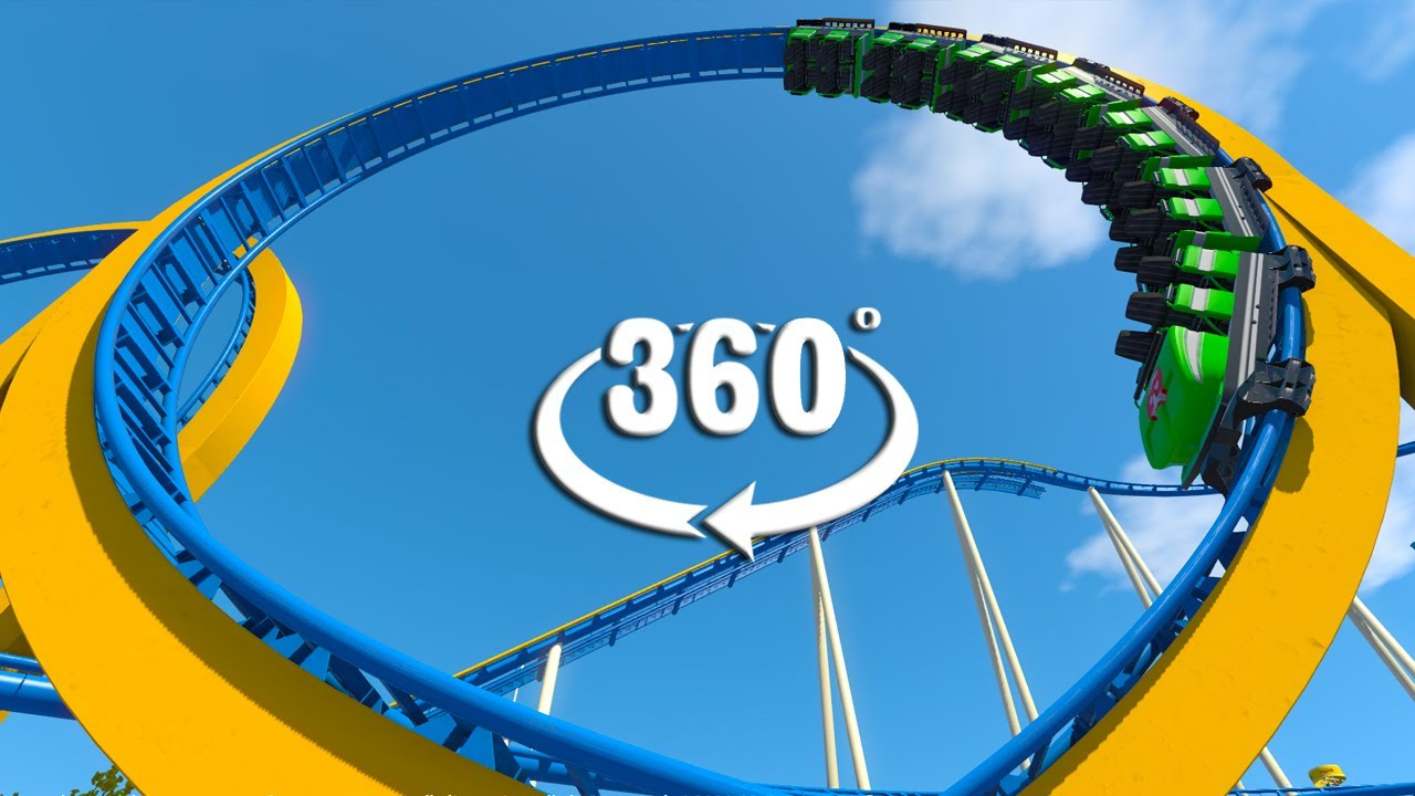 VR 360 Classic Steel Looping Roller Coaster Video for Oculus HTC and VR Headsets