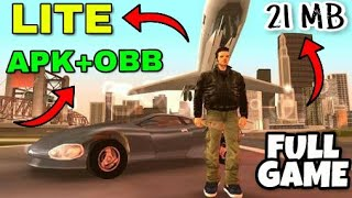 [ 21 MB ] GTA 3 Highly Compressed MOD For Android Devices with Gameplay And Proof (in hindi)