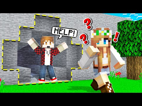 My MINECRAFT GIRLFRIEND Saves Me! (impossible)