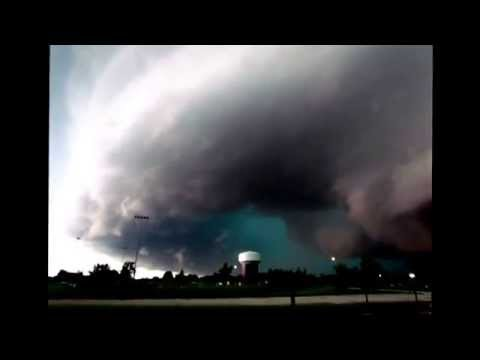 Tornado sirens and fire pagers sounding tornado warning for Crawford County and Denison Iowa 2014