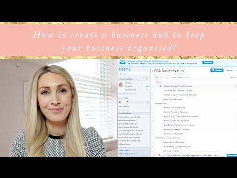 How to create a business hub to keep your business organised!