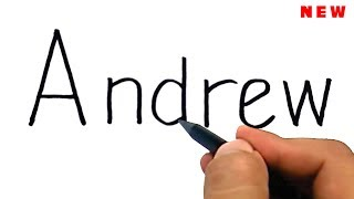 drawing Andrew free fire from the word Andrew