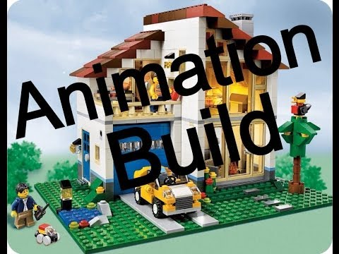 Animation Build of Lego Creator Set 31012 Family House