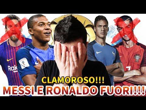 [CLAMOROSO!!!] RONALDO E MESSI FUORI DAL PALLONE D'ORO!!!