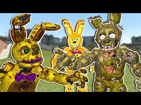 SCARY FNAF SPRINGTRAP ANIMATION REVEAL - Garry's Mod Gameplay - Five Nights at Freddy's Gmod thumbnail