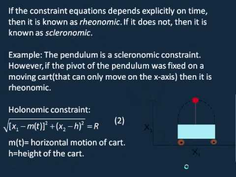 Analytical Mechanics, Lesson 1: Constraints and Generalized Coordinates