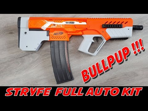 NERF STRYFE FULL AUTO BULLPUP KIT [Einbau/Manual]