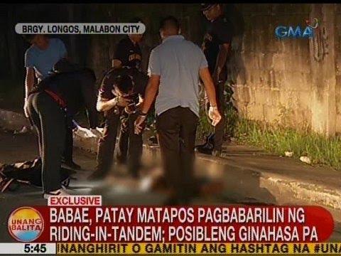 UB: Babae, patay matapos pagbabarilin ng riding-in-tandem sa Malabon City
