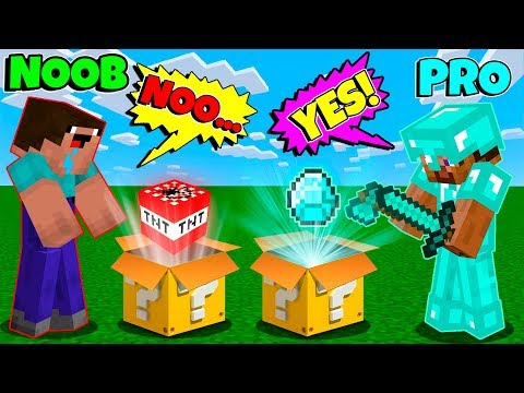 Minecraft Battle: Noob Vs Pro! Lucky Block Challenge / Animation (Minecraft Machinima)