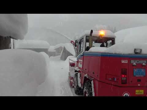 Starkschneefall in Oberwald VS am 04.01.2018