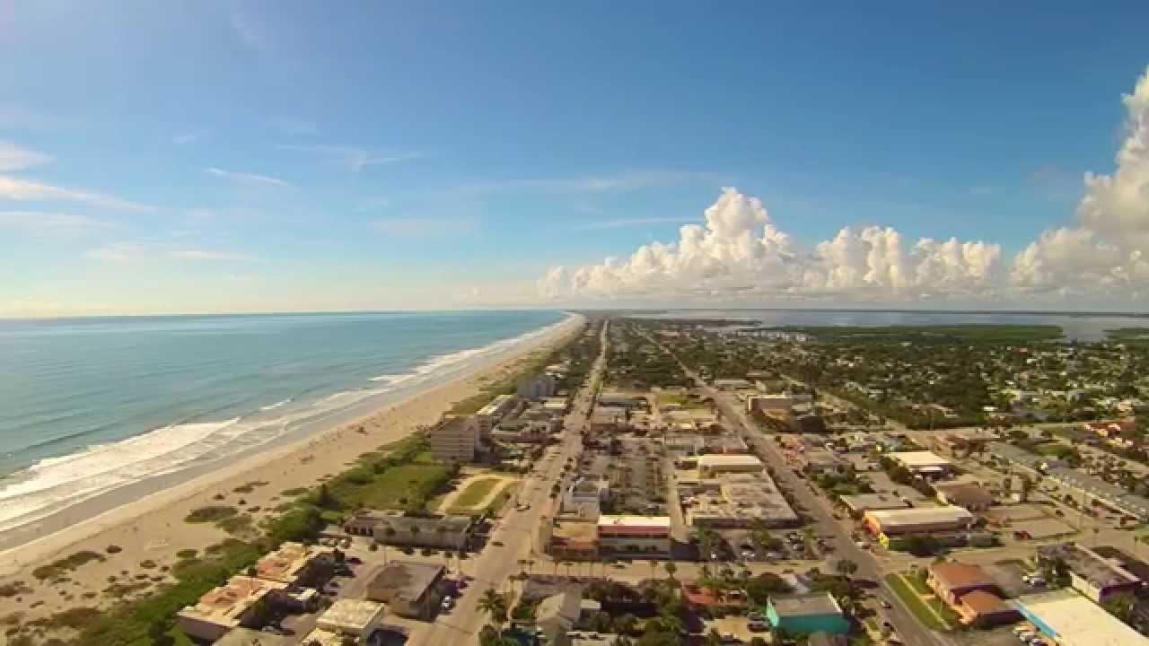 Downtown Cocoa Beach Florida By Drone
