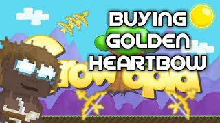 Growtopia  - Golden Heart Bow