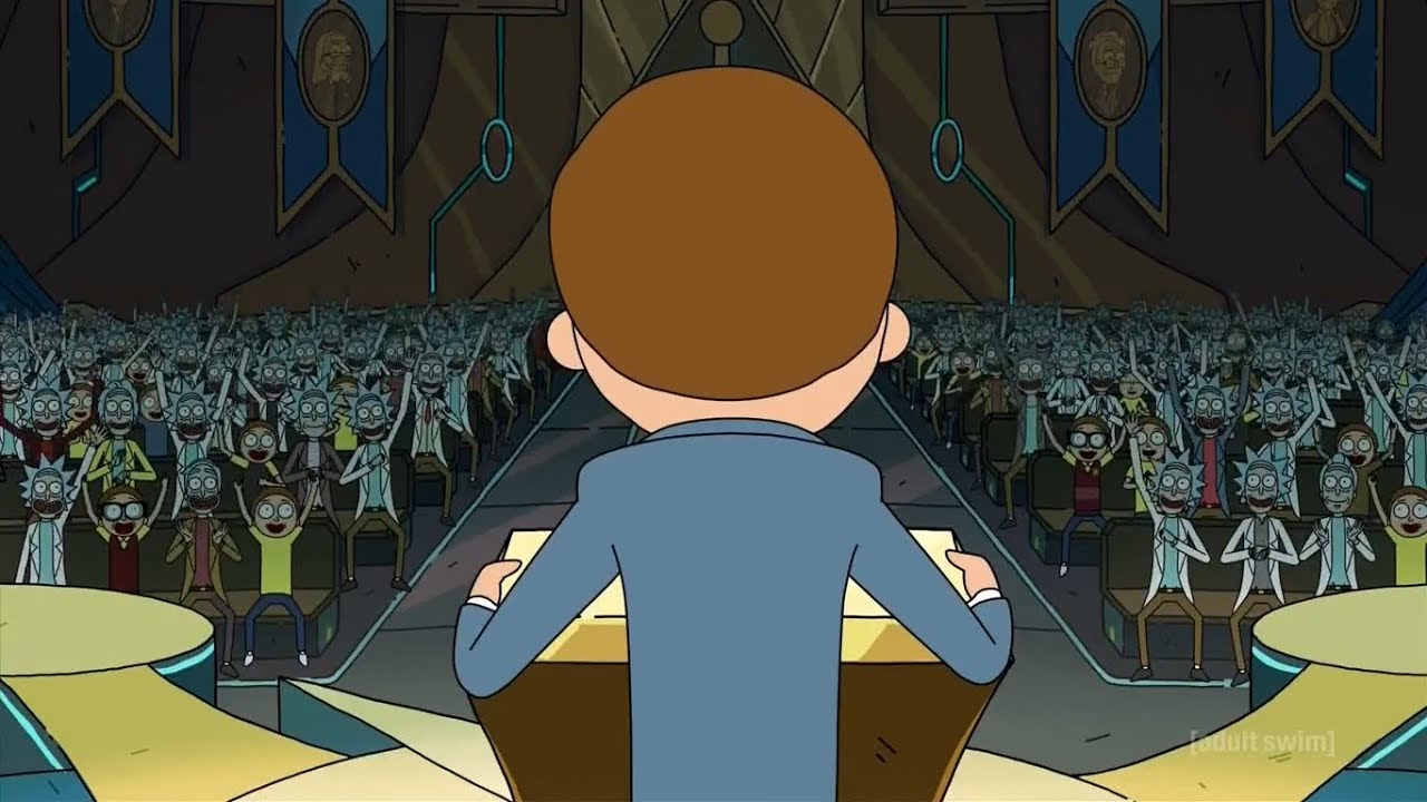 Rick and Morty - Morty's presidential speech scene