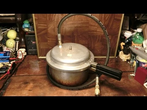 DIY Vacuum Chamber from old Pressure Cooker