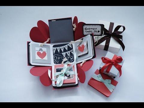 Exploding Box Card Full Tutorial Sweetheart Surprise Theme