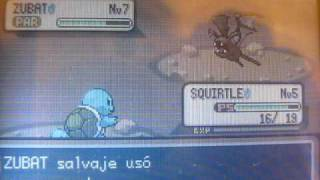 Shiny zubat! Random encounter(Leaf Green)