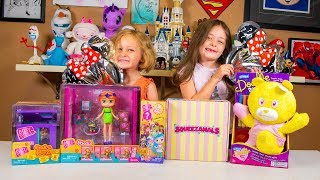 Surprise Toy Opening Squeezamals Boxy Girls and Doodle Bear Toys for Girls Kinder Playtime