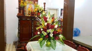 Chưng Bình Hoa Và Trái Cây Ngày Tết Việt Nam - Tự Làm Hoa Cưới Đẹp