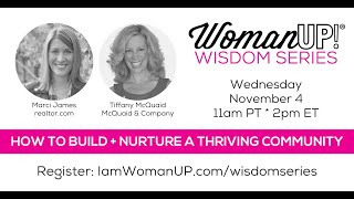 Wisdom Session * How to Build and Nurture a Thriving Community