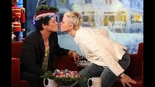 Bruno Mars loves ellen on Ellen show